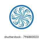 vector set of floral patterns... | Shutterstock .eps vector #796883023