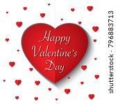 happy valentines day card and... | Shutterstock .eps vector #796883713