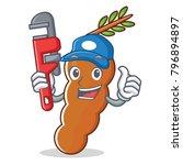 plumber tamarind mascot cartoon ... | Shutterstock .eps vector #796894897