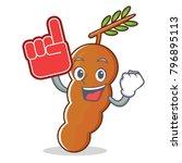 foam finger tamarind mascot... | Shutterstock .eps vector #796895113