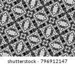 ornament with elements of black ... | Shutterstock . vector #796912147