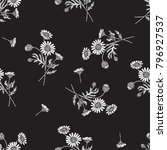 vintage chamomile flower... | Shutterstock .eps vector #796927537