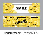 smile yellow balloons background | Shutterstock .eps vector #796942177