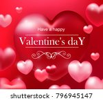 valentine's day card  red... | Shutterstock .eps vector #796945147