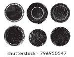set of grunge post stamps... | Shutterstock .eps vector #796950547
