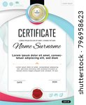 white official certificate with ... | Shutterstock .eps vector #796958623
