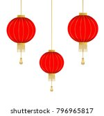 traditional chinese lantern in... | Shutterstock .eps vector #796965817