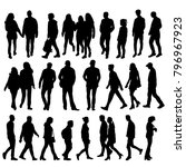 isolated silhouette people go  ... | Shutterstock . vector #796967923