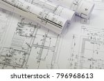 plans of building   project | Shutterstock . vector #796968613