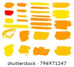 collection of hand drawn golden ... | Shutterstock .eps vector #796971247