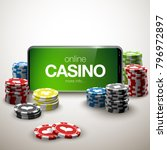 illustration online poker... | Shutterstock .eps vector #796972897