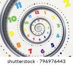 abstract modern white rainbow...   Shutterstock . vector #796976443