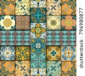 seamless pattern with... | Shutterstock .eps vector #796980877