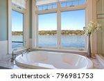 fabulous bathroom features nook ... | Shutterstock . vector #796981753