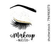makeup master logo. vector... | Shutterstock .eps vector #796983073