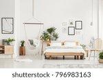 spacious bedroom interior with... | Shutterstock . vector #796983163