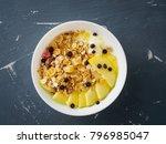 healthy breakfast in the... | Shutterstock . vector #796985047