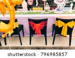 holiday themed table for the... | Shutterstock . vector #796985857