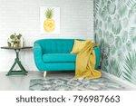 bright yellow pineapple... | Shutterstock . vector #796987663