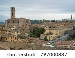 perugia  umbria  italy. view of ... | Shutterstock . vector #797000887