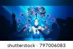 artificial intelligence teaches ... | Shutterstock .eps vector #797006083