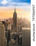new york city skyline with... | Shutterstock . vector #797006947