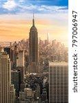 new york city skyline with... | Shutterstock . vector #797006947