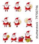cartoon santa claus icon set | Shutterstock .eps vector #79700746