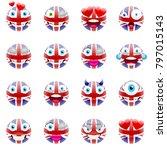 united kingdom flag emojis.... | Shutterstock .eps vector #797015143