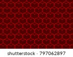Red Heart Vector Pattern   Red...