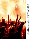 concert crowd at a rock concert | Shutterstock . vector #797065423