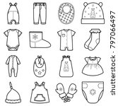 baby clothes set. | Shutterstock . vector #797066497