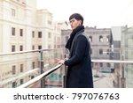 a portrait of a young asian man ... | Shutterstock . vector #797076763