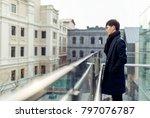 a portrait of a young asian man ... | Shutterstock . vector #797076787