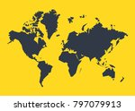 world map. global network mesh. ... | Shutterstock .eps vector #797079913