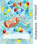 party background with carnival... | Shutterstock .eps vector #797094247