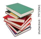 stacking of high level books - stock photo