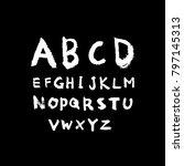 vector fonts   handwritten... | Shutterstock .eps vector #797145313