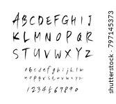 vector fonts   handwritten... | Shutterstock .eps vector #797145373