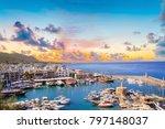 beautiful view of the kyrenia... | Shutterstock . vector #797148037