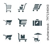 Cart Icons. Set Of 9 Editable...