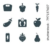 diet icons. set of 9 editable... | Shutterstock .eps vector #797157607