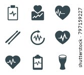 beat icons. set of 9 editable... | Shutterstock .eps vector #797159227