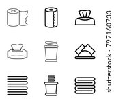 towel icons. set of 9 editable...   Shutterstock .eps vector #797160733
