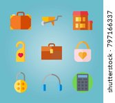 icon set about real assets.... | Shutterstock .eps vector #797166337