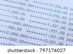 bank account. close up... | Shutterstock . vector #797176027
