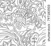 seamless mehndi vector pattern. ... | Shutterstock .eps vector #797183503