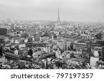 black and white aerial view of... | Shutterstock . vector #797197357