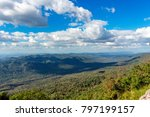 the sky and the mountains. | Shutterstock . vector #797199157