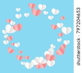 hearts confetti background. st. ... | Shutterstock .eps vector #797204653